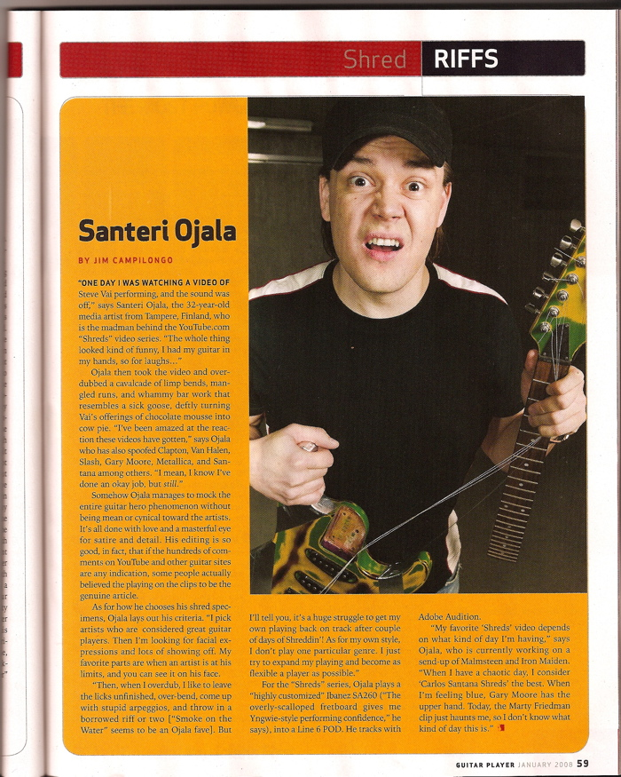 StSanders Guitar Player Magazine Article